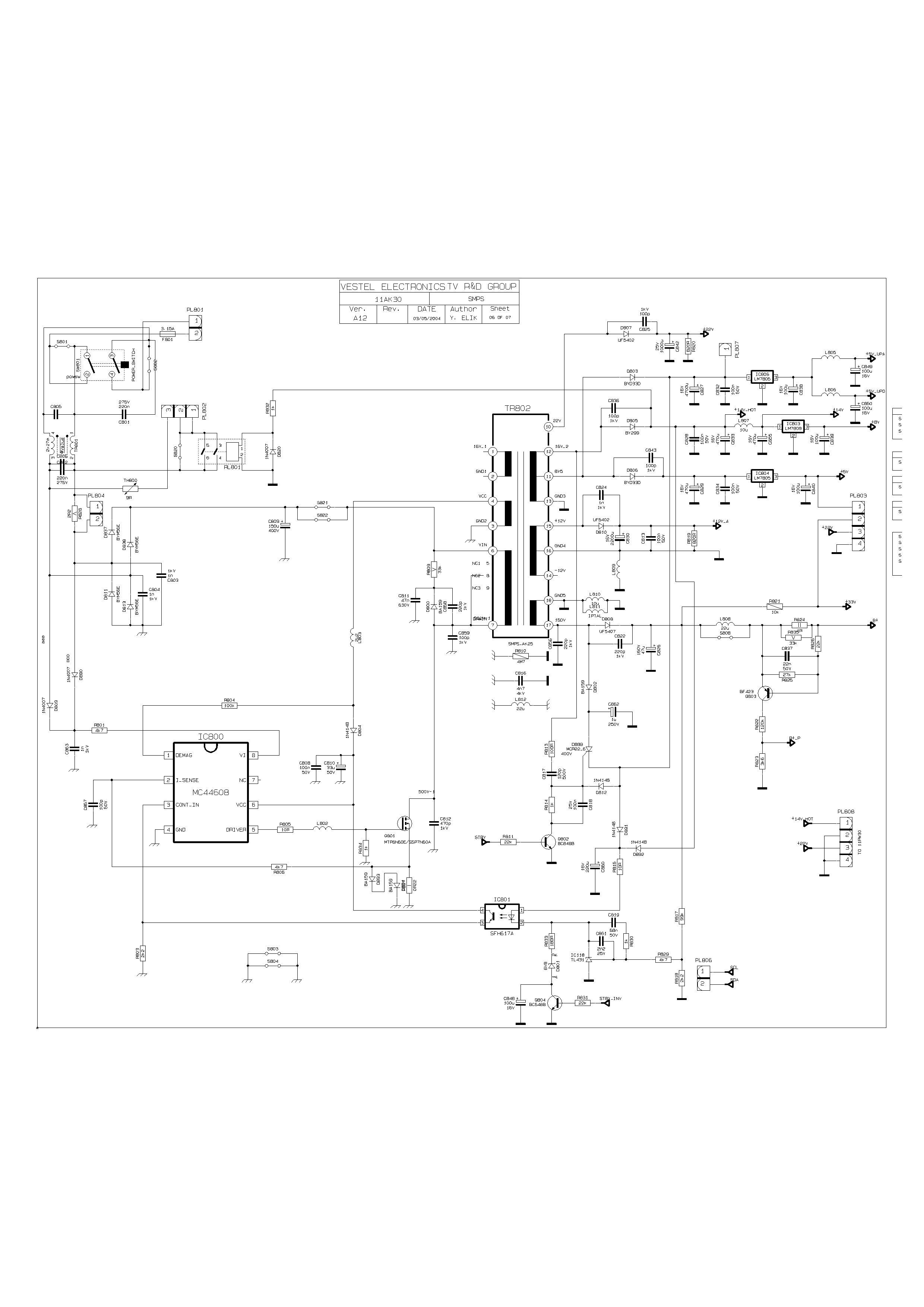 Схема тв rainford шасси 30a14-204247