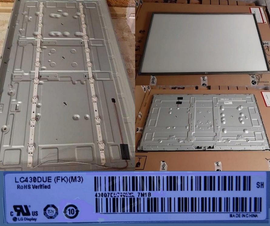 подсветка  LC430DGG ( FK ) ( M3 )  . LG 43UJ655V