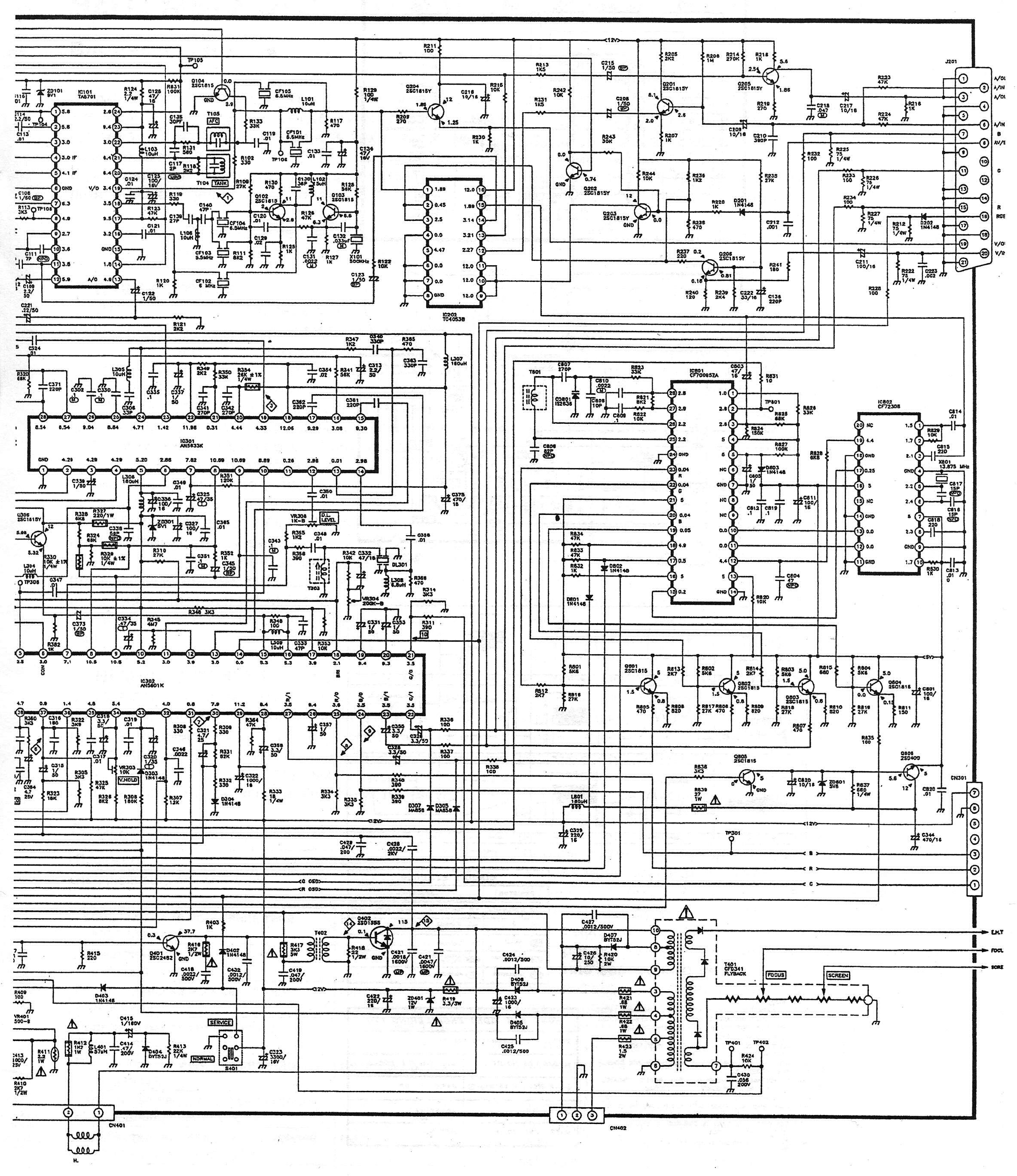 Схема akai lea 19s02p